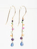 rainbow beaded drop earrings