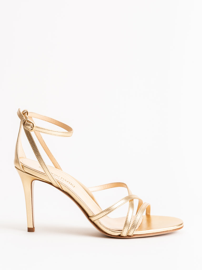 lillian 85mm heel - metallic soft gold