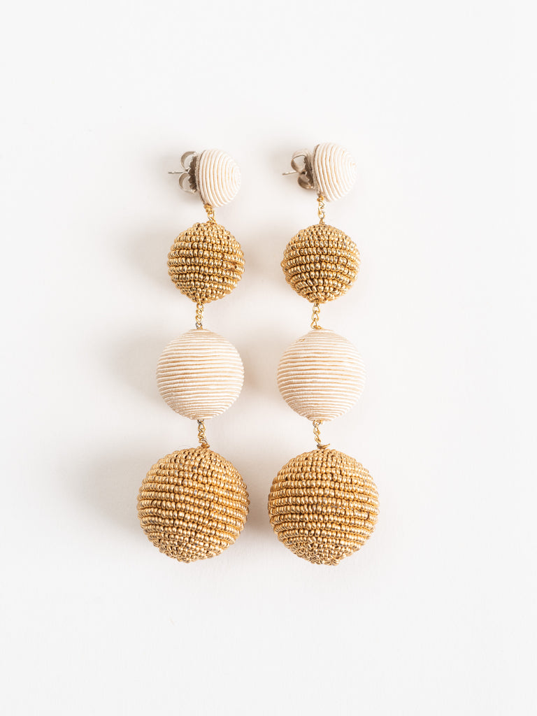 seed silk mix gumball earrings