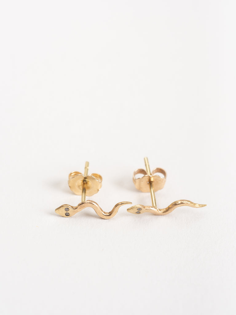mini stud snake earrings
