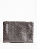 small pouch - pewter chevron