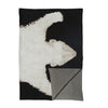 polar bear rug throw - black/white