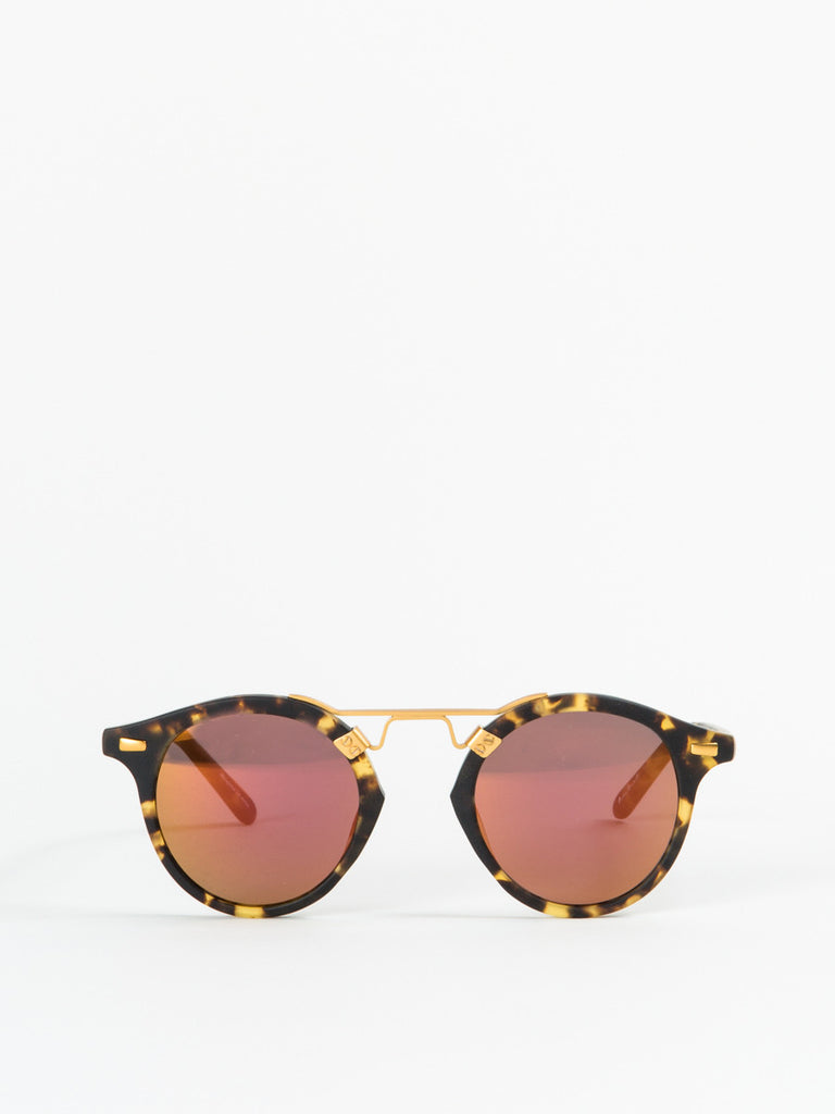 KREWE Du Optic St. Louis Sunglasses in Matte Bengal
