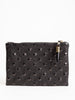 small pouch - black studded