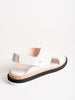 criss-cross sandal - off white