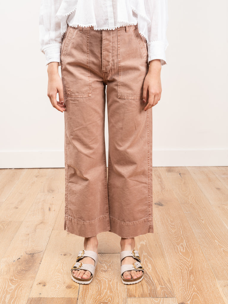 army wide leg pant - adobe
