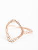 apogee ring - rose gold