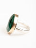 asymmetrical emerald ring