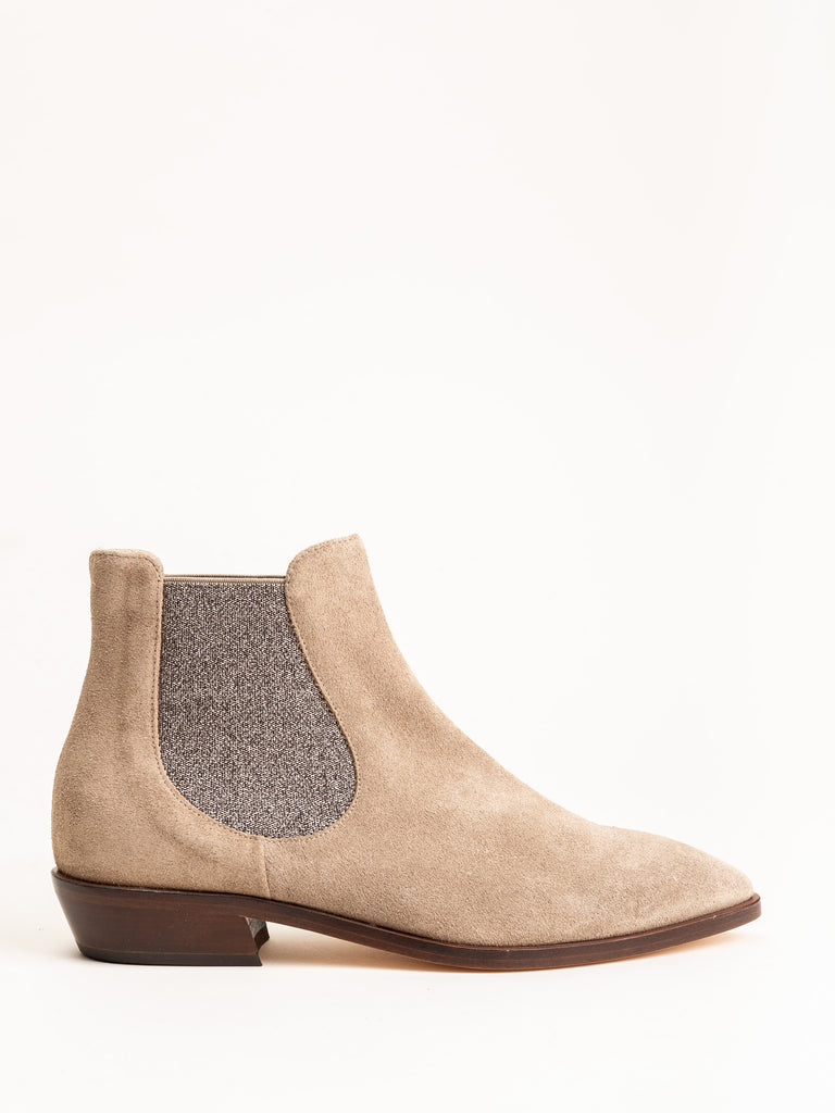 western short boot - taupe suede