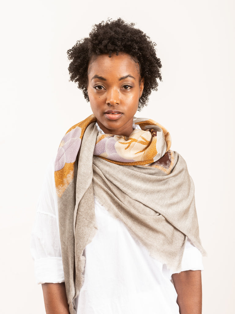 one of a kind foulard scarf - taupe