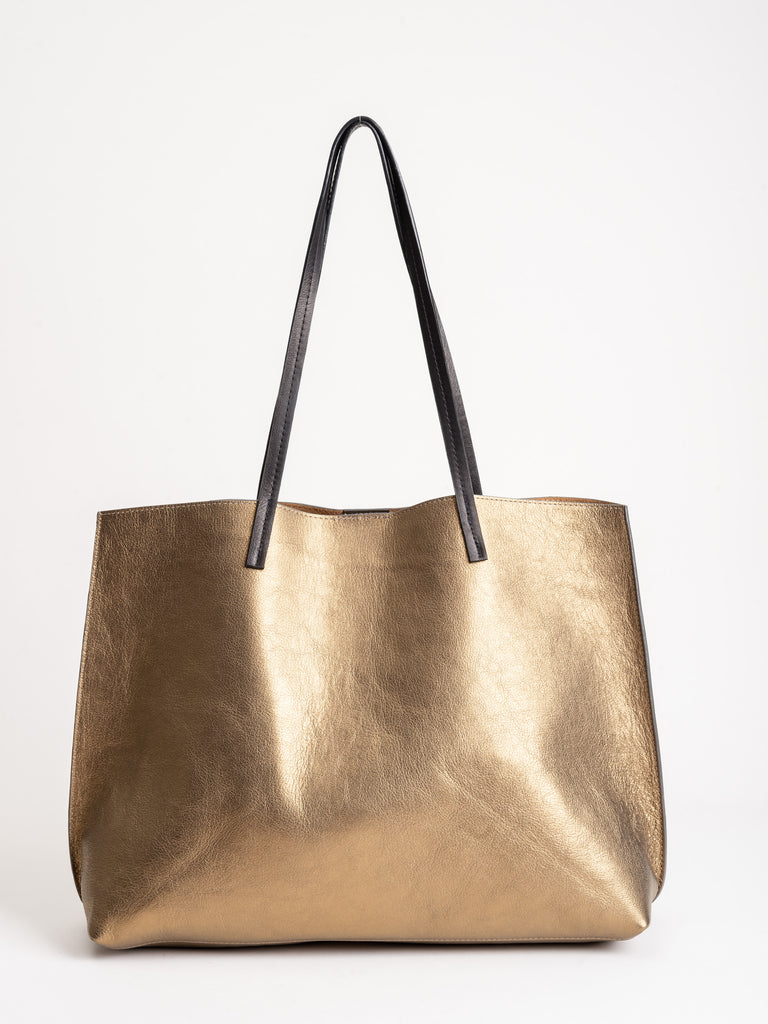classic shopper - gold french goat