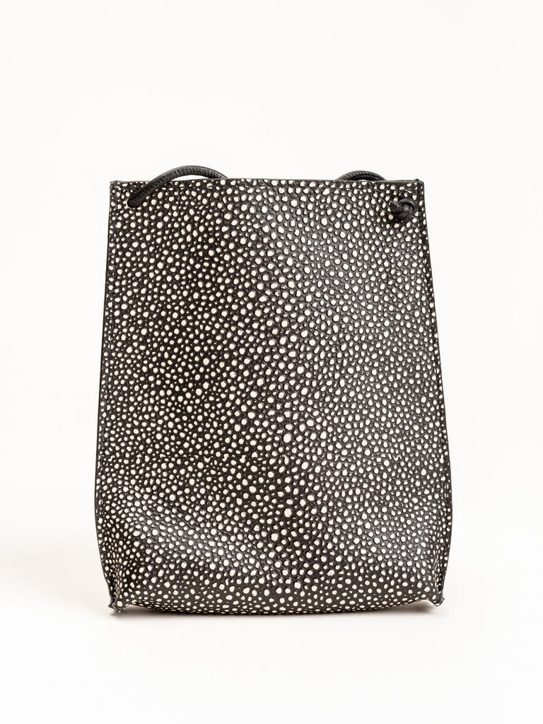 cell pouch - black shagreen
