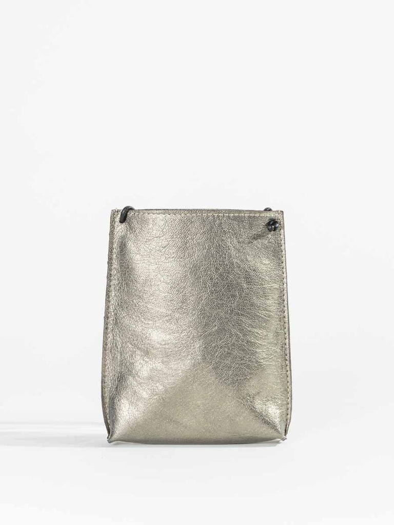 B.May Cell Pouch in Brass French Goat