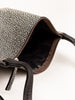 large strappy pouch - black shagreen