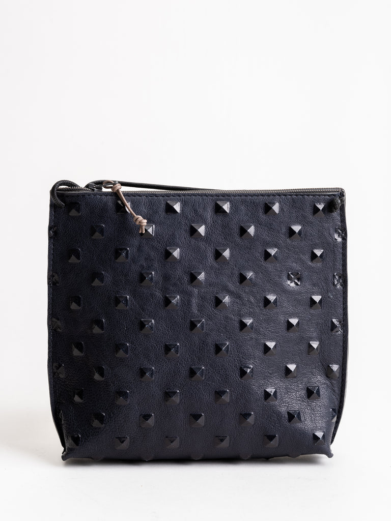 strappy pouch - navy stud