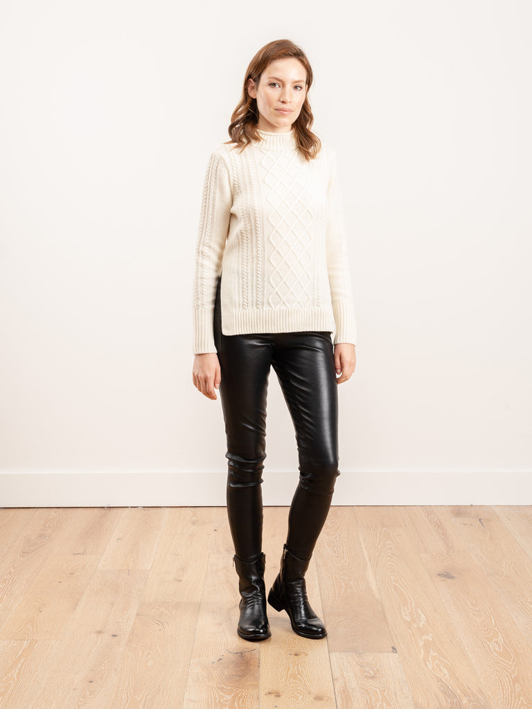 tyneside cable knit sweater