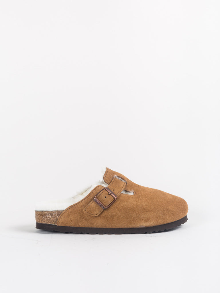 Birkenstock Boston Clog with Shearling in Mink