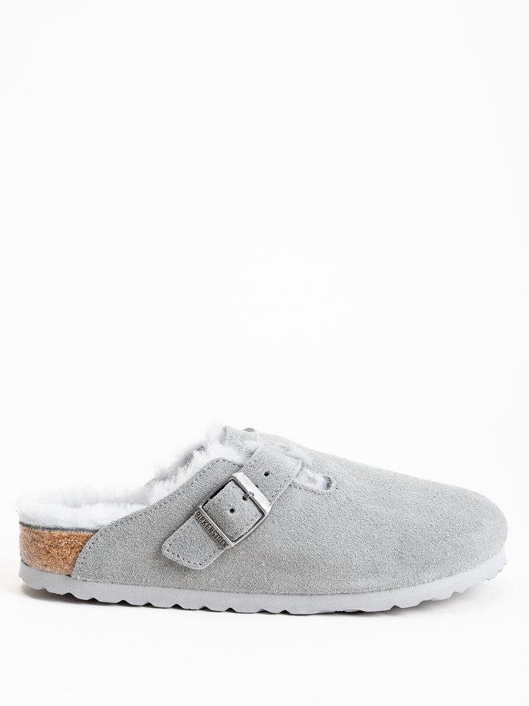 boston shearling clog - dove gray