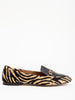 flat loafer - zebra/black leather