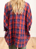 camp shirt - red/blue plaid