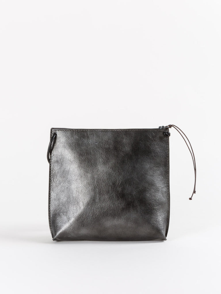 strappy pouch - french goat zinc
