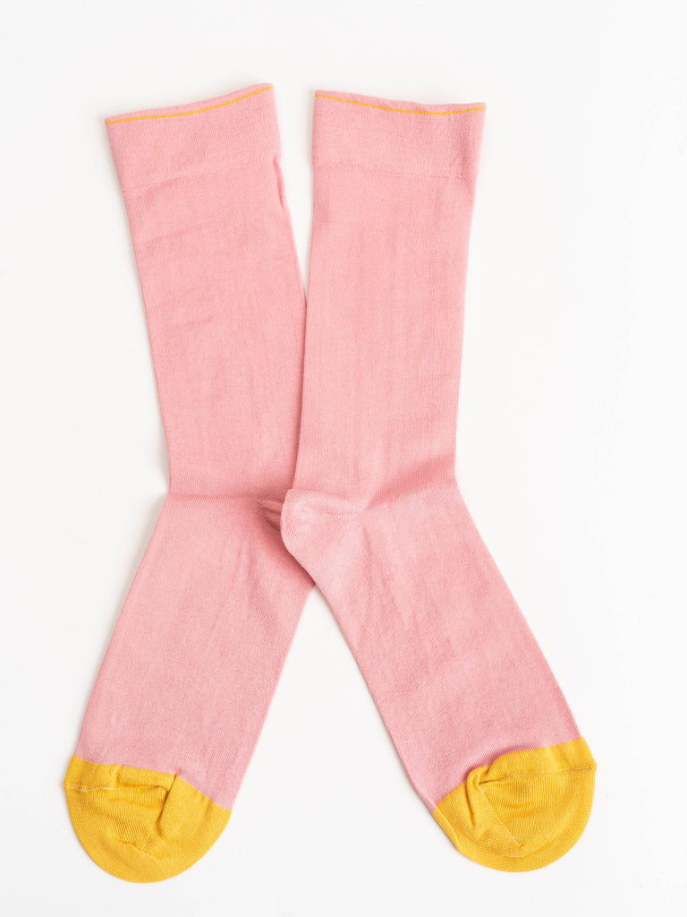 short sock - pink/yellow