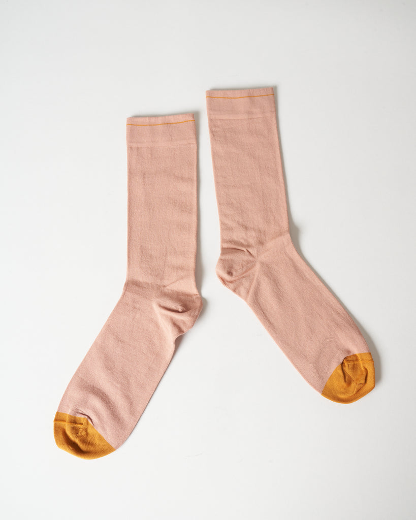 short socks - solid rose