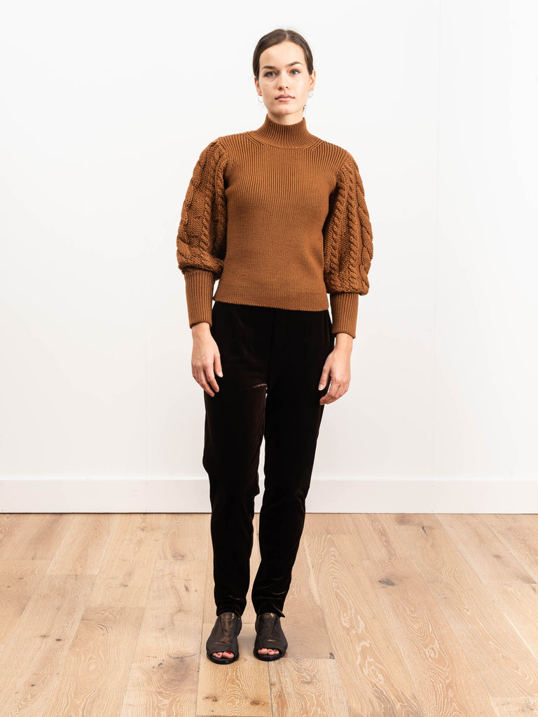 rib cable turtleneck