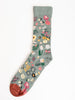 short sock - cedre w/ floral