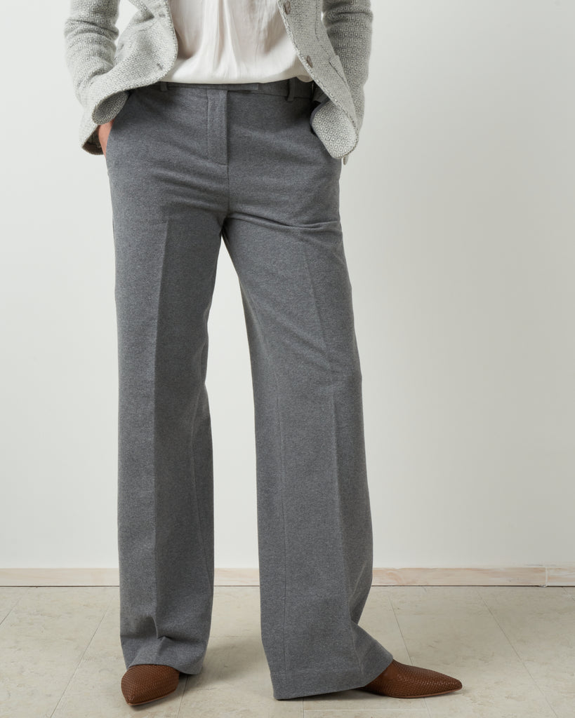 trouser pant - grey melange