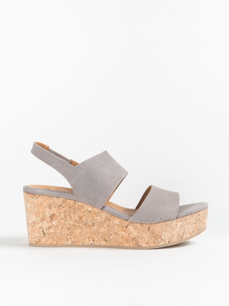Coclico Glassy Wedge in Grey