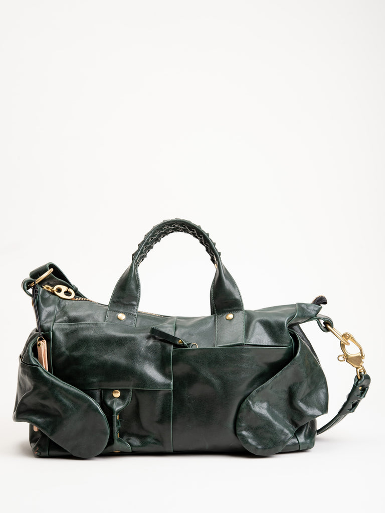 special shoulder MID bag - green