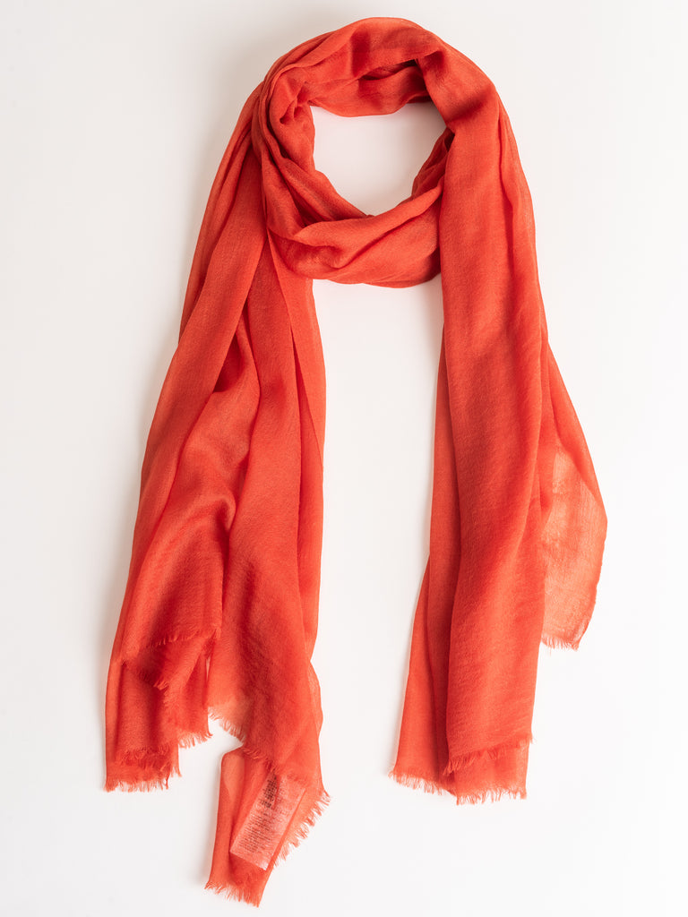 cashmere scarf - orange