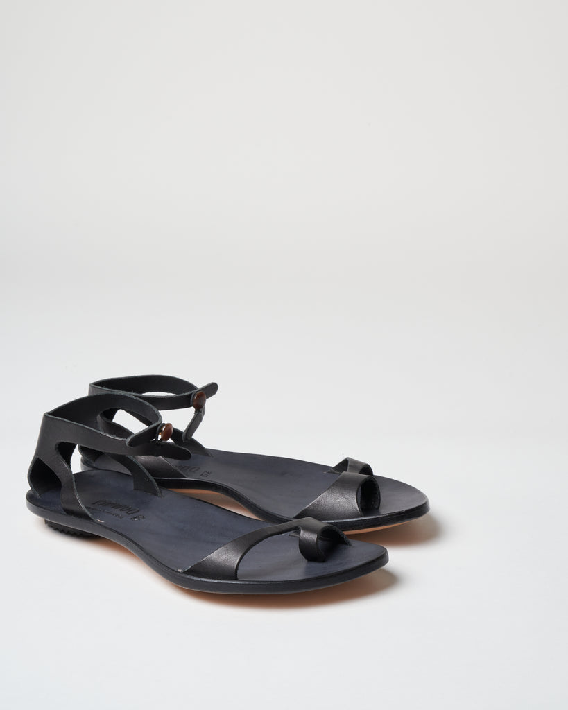 naked sandal - black