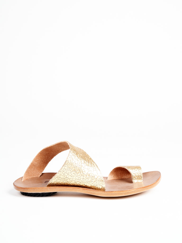 thong sandal - gold