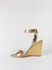 loeffler randall 'piper' high wedge sandal in gold