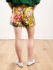 embroidered shorts - yellow