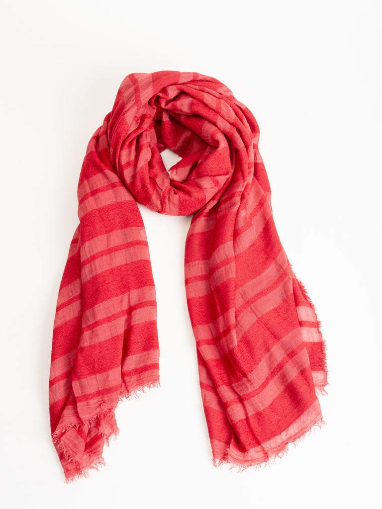 kenille scarf - red