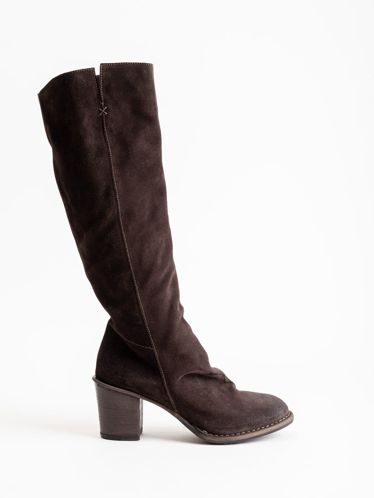 jell boot - brown suede