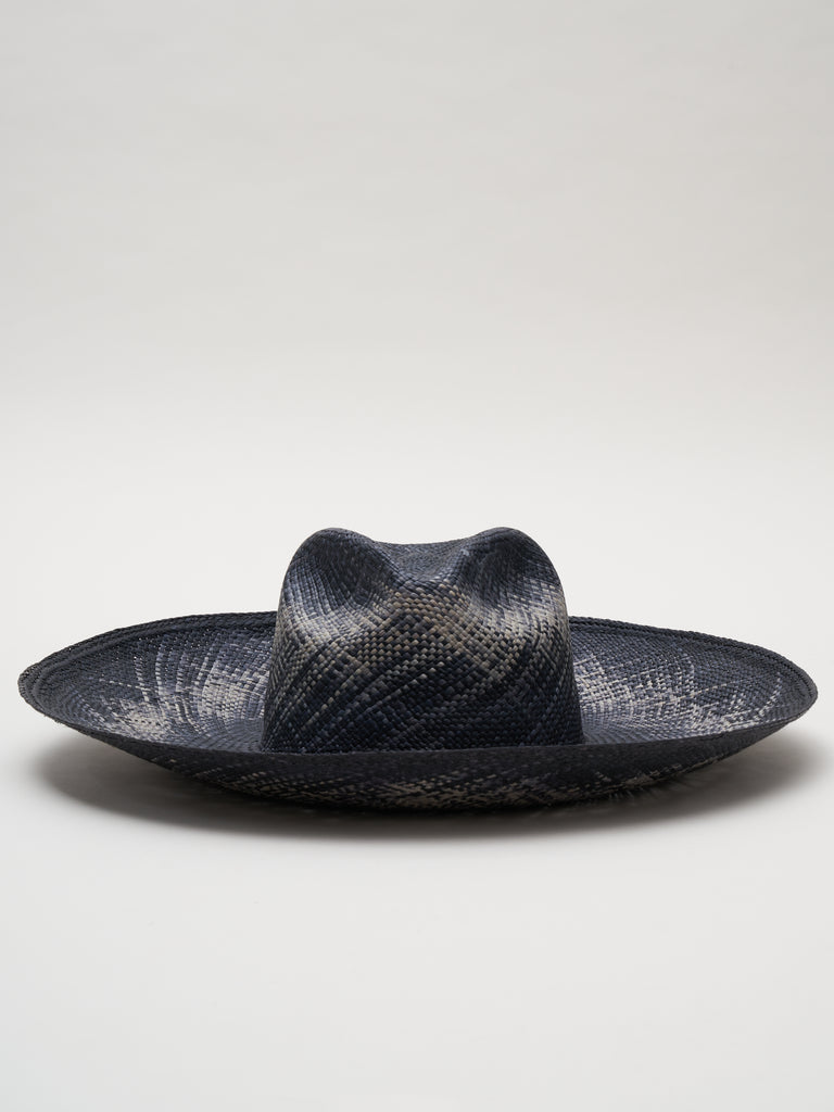 catnip straw hat - black/natural
