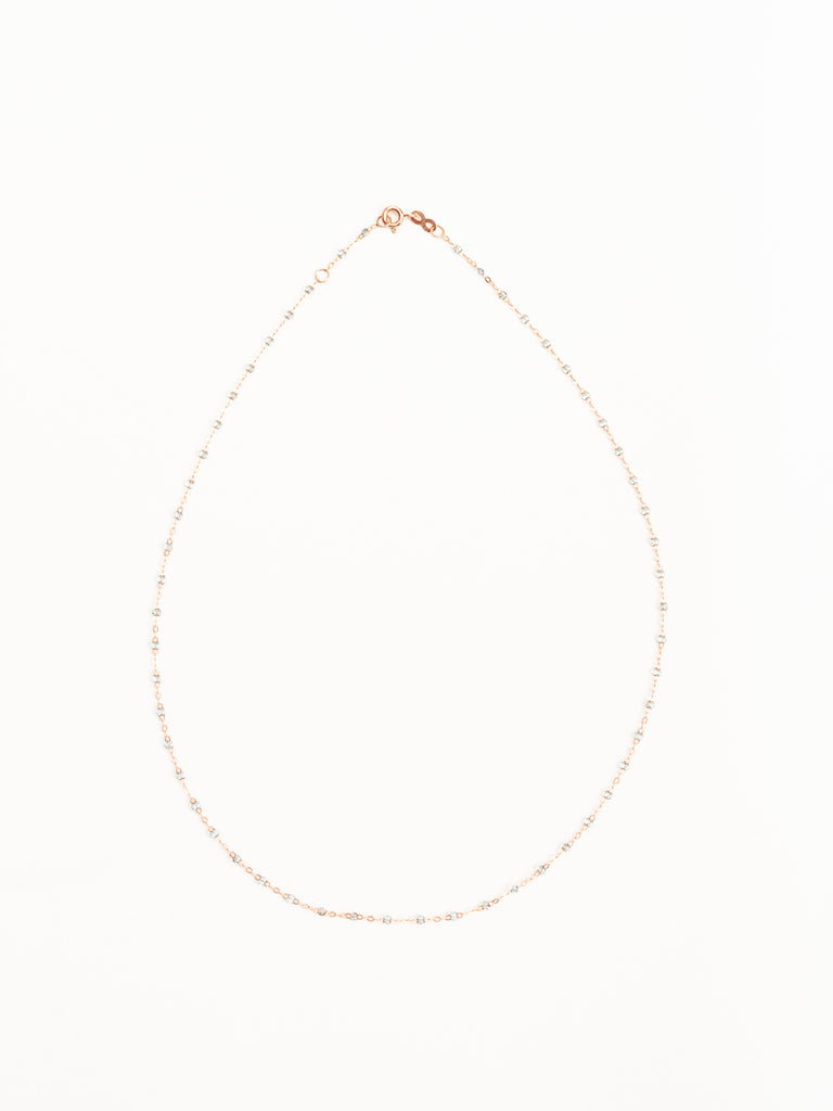 ice bead necklace - rose gold