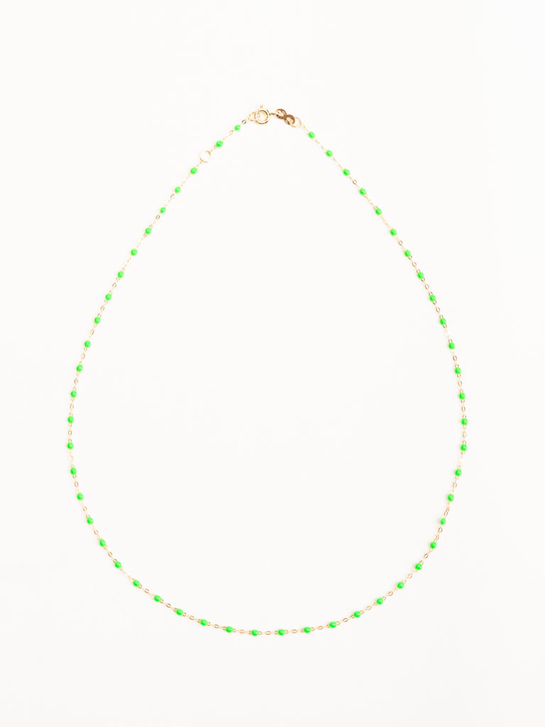 vert bead necklace - yellow gold