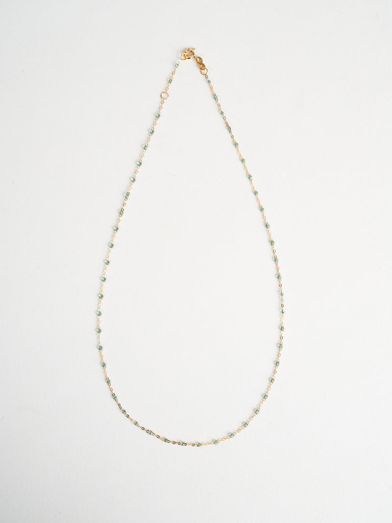 ice bead necklace - yellow gold