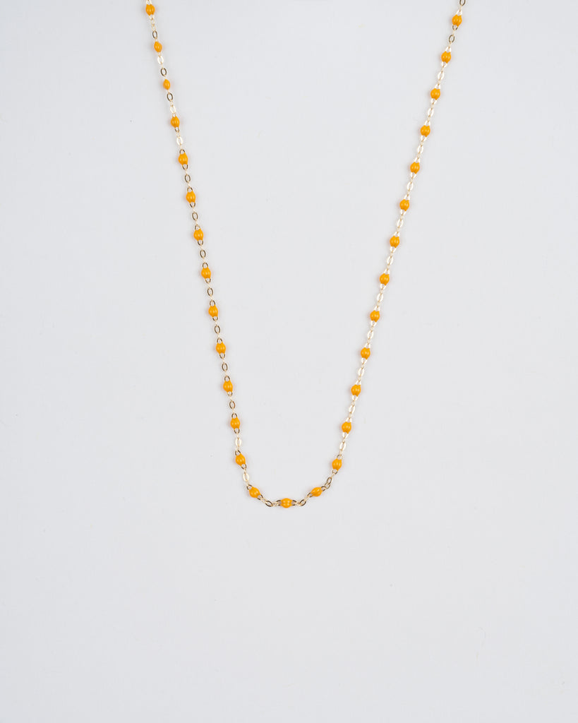 yellow bead necklace - yellow gold