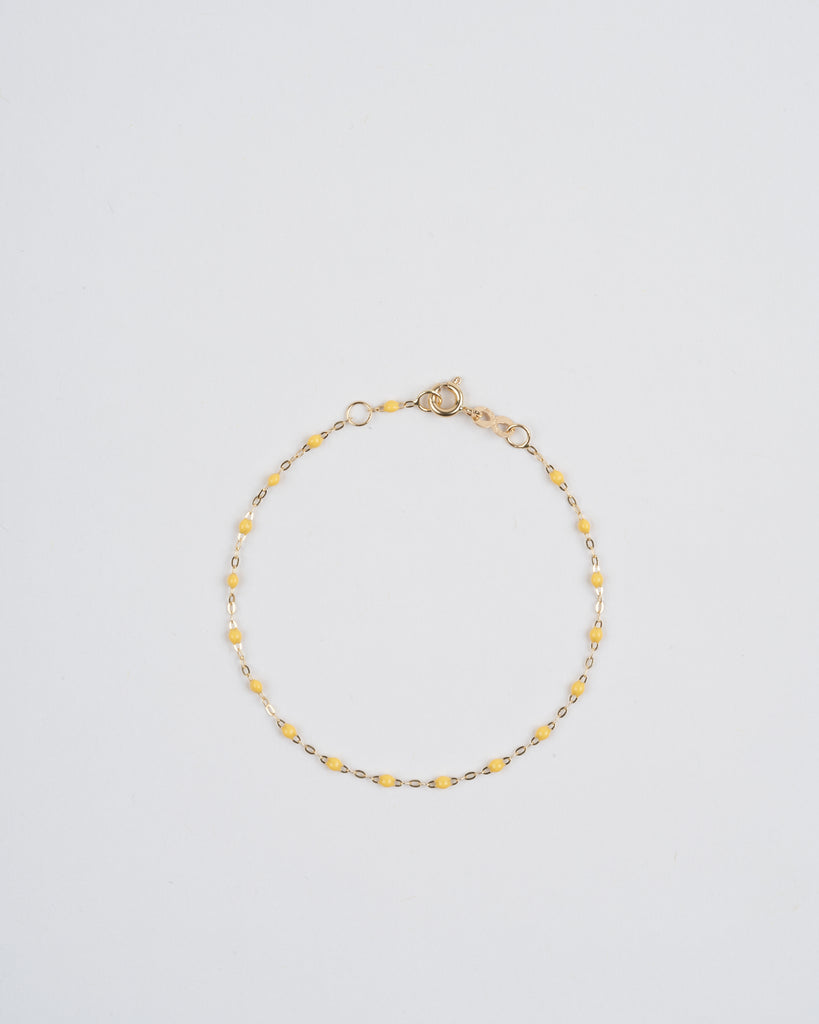 lemon bead bracelet - yellow gold