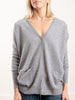 cardigan with star elbow - grey/gold