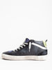 mid-star sneaker - black leather