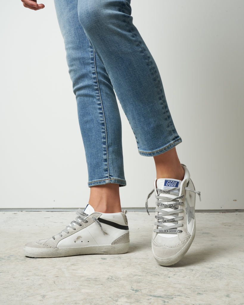 mid star sneaker - white/ice/silver/black