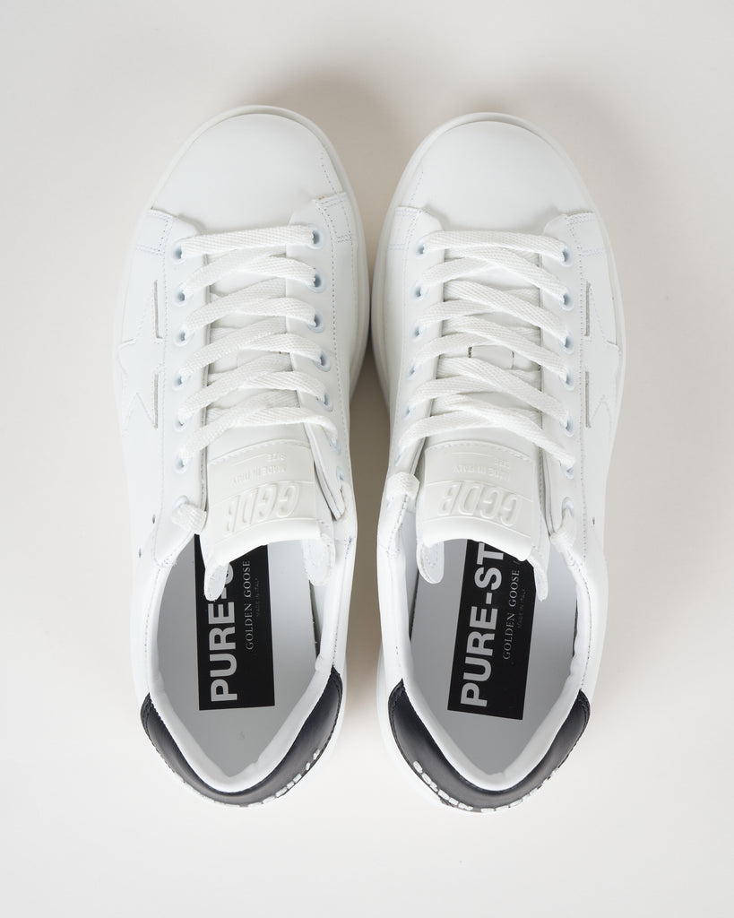 pure star sneaker - white/black