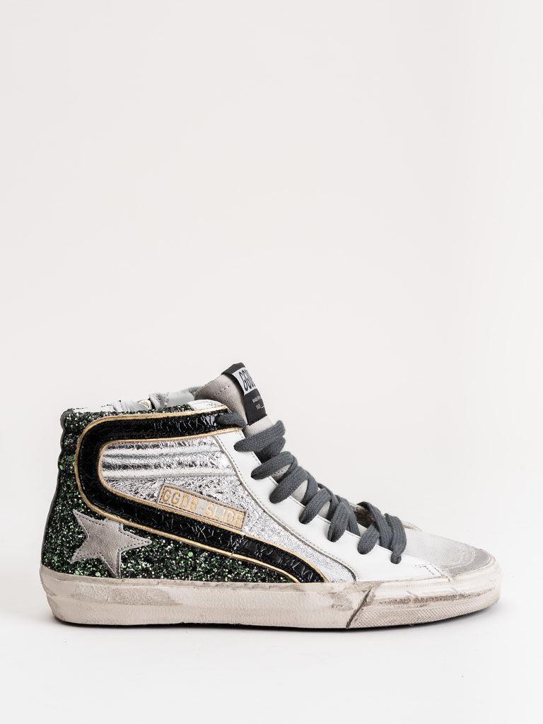 slide sneakers - half silver/ice star